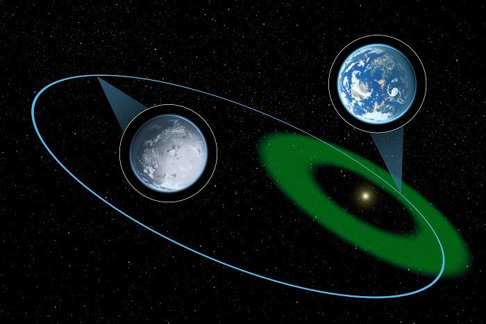 Kepler-61-b  This exoplanet is discovered by NASA kepler team in 2013 & fall in the category of super earth and lies into the empirical habitable zone, a zone where liquid water could exist with high albedo, relatively low humidity and higher atmospheric pressure.