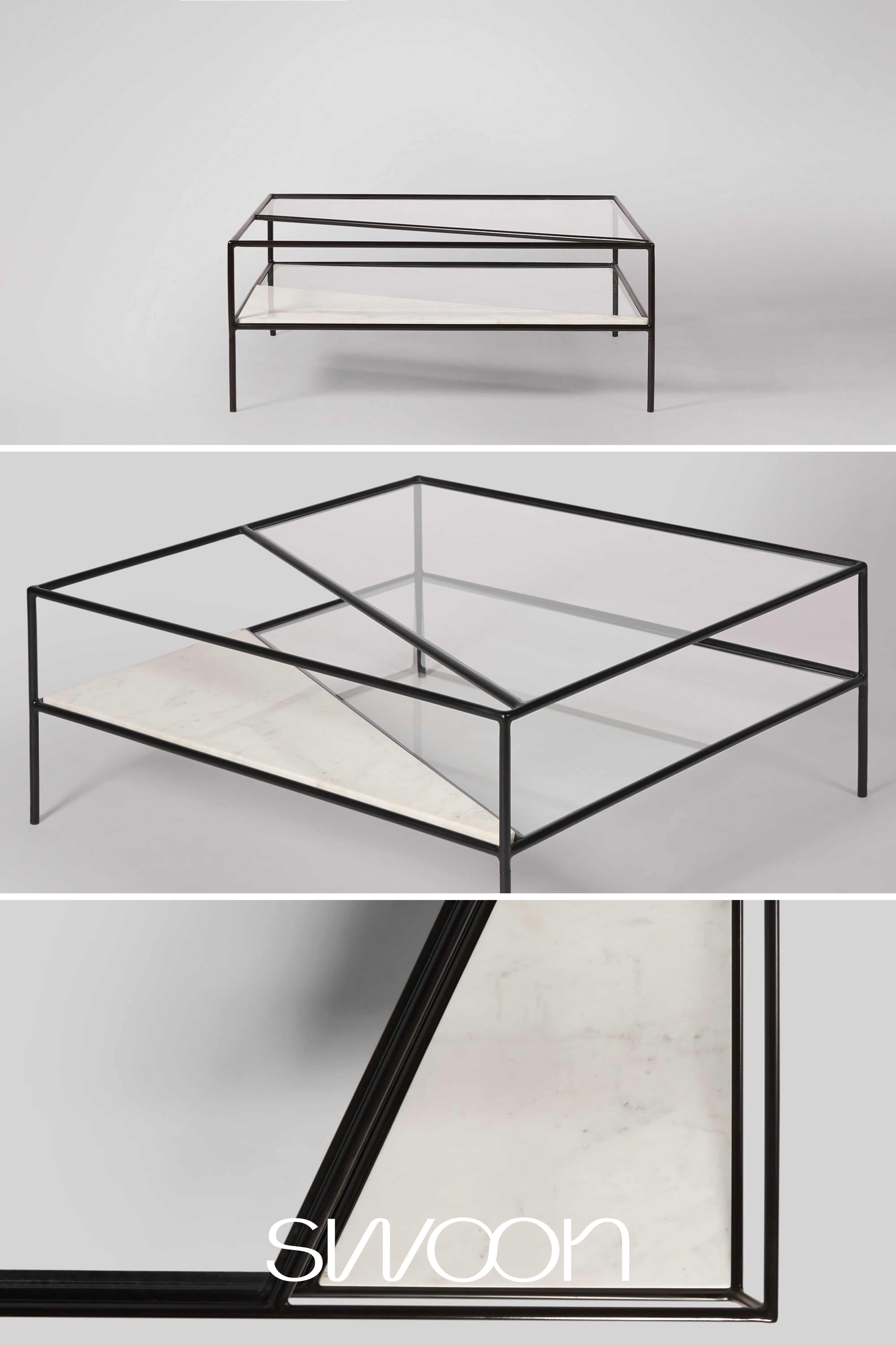 Simmonds Coffee Table In White Marble Black Iron With Clear Glass Table Top In 2021 Glass Coffee Tables Living Room Coffee Table White Coffee Table [ 6000 x 4000 Pixel ]