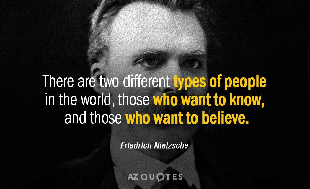 Friedrich Nietzsche Quote There Are Two Different Types Of People In The World Those Who Want Nietzsche Quotes Existentialism Quotes Friedrich Nietzsche