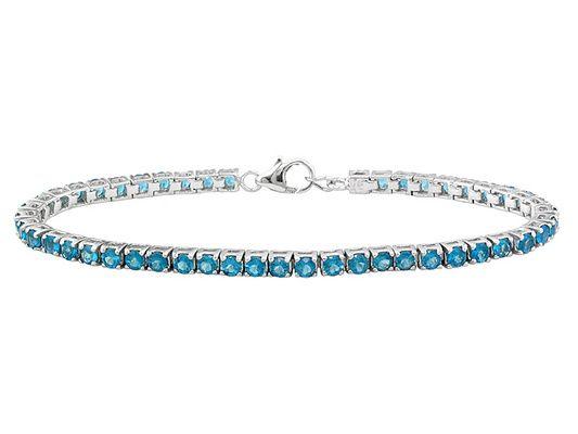 Neon Blue Apatite 5.72ctw Sterling Silver Bracelet