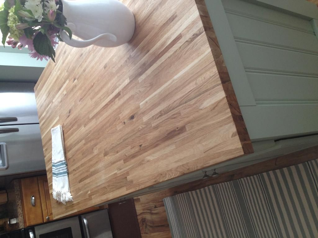 1 1 2 X 36 X 6 Builder Oak Island Top Williamsburg Butcher Block Co Oak Island Butcher Block Oak
