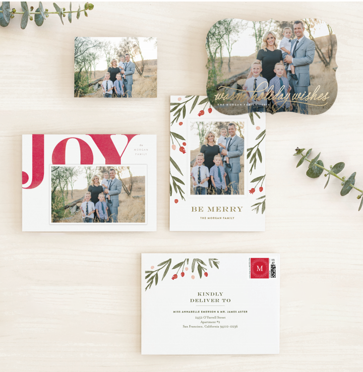 Introducing Minted Holiday Card Styling Services. Send us your feature photo and we'll find the holiday card that's perfect for you