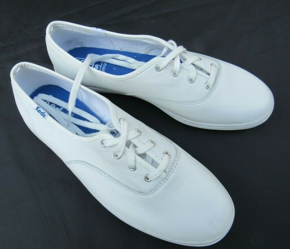 Casual athletic shoes, Keds, White leather
