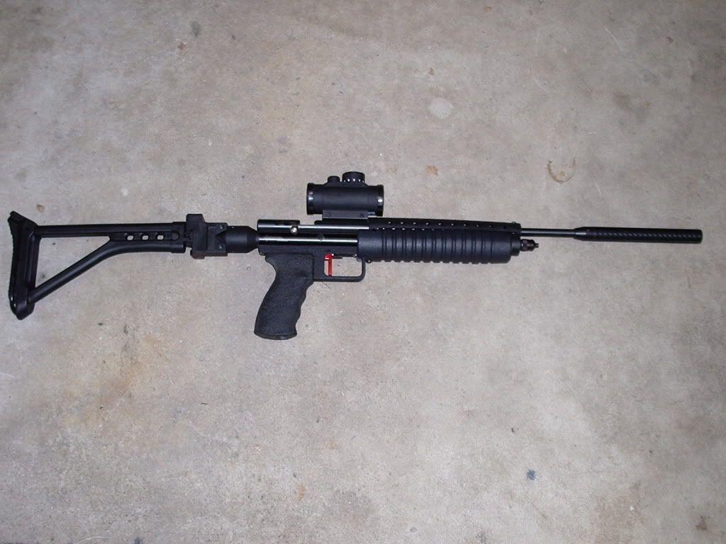 custom crosman 2240 carabine with powermax hipac one. Black Bedroom Furniture Sets. Home Design Ideas
