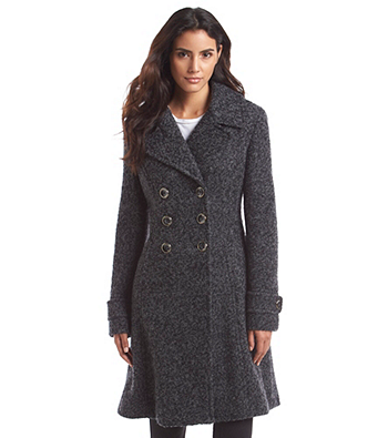 Ivanka Trump® Double-Breasted Fit And Flare Boucle Coat at www.herbergers.com