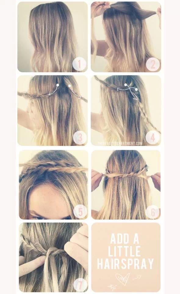 Peinado casual | Hair ^^ | Pinterest | Peinados casuales, Peinados y ...