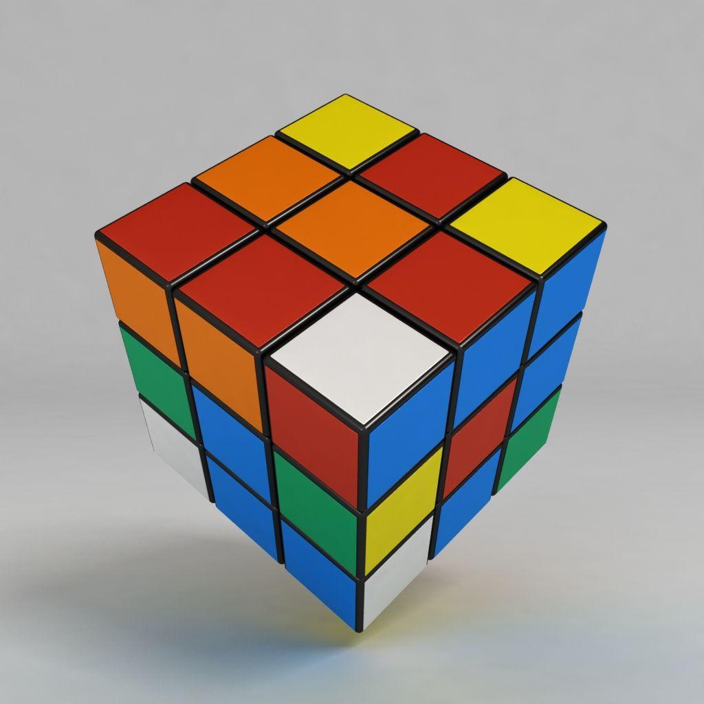 3d Model Rubiks Cube Fun Kid Math Game Plastic
