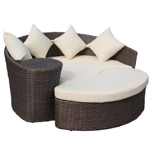 Raposa Rattan Curved Garden Daybed