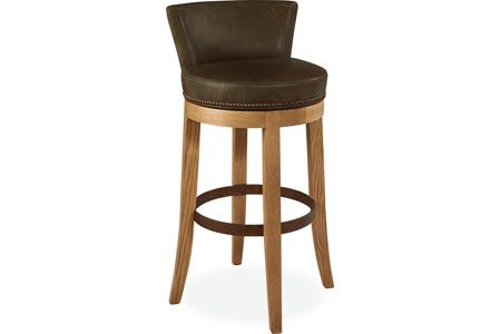 Lee Industries L5983 52sw Leather Swivel Bar Stool