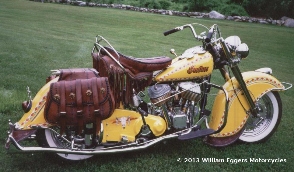 Bill Eggers 1950 Indian Chief Motorcycle Indian Motorcycle Indian Motorbike Vintage Indian Motorcycles