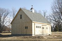 Best Barn With Gable Roof Showing High Roof Pitch Garage 400 x 300