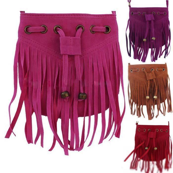 30pcs Children shoulder tassel bags kids fringe bag Little Girls ...