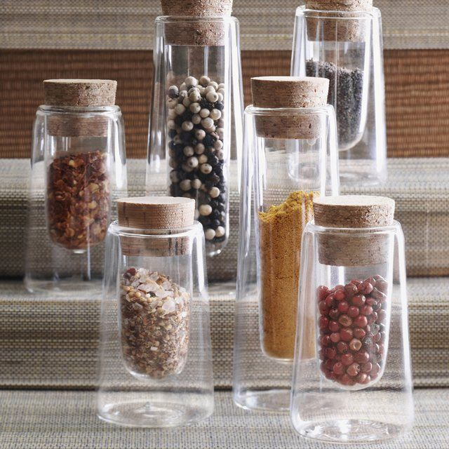 Double Wall Spice Jars by Roost Cork stoppers Walls and Kitchen