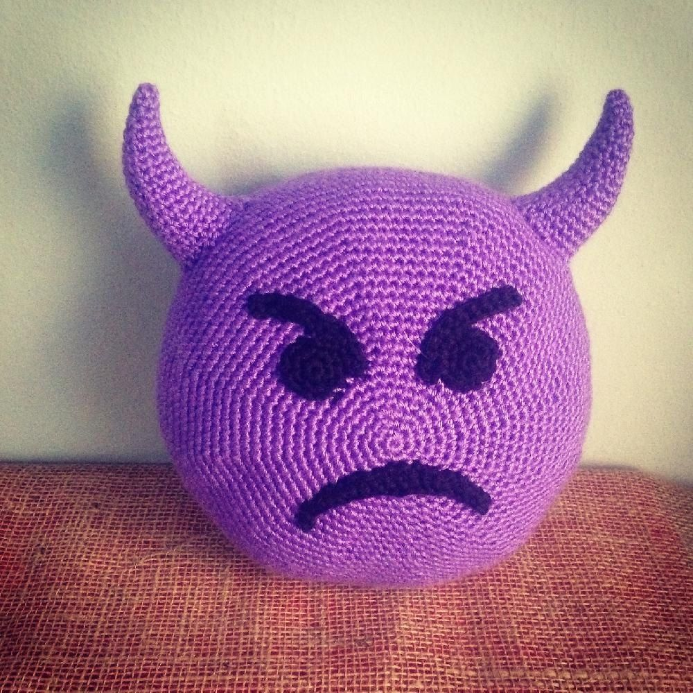 Emoji imp pillow crochet pinterest emoji emojis and pillows