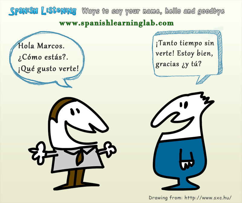 Ways to say your name hello and goodbye in spanish 1 spanish ways to say your name hello and goodbye in spanish 1 spanish conversation excerpts m4hsunfo Image collections
