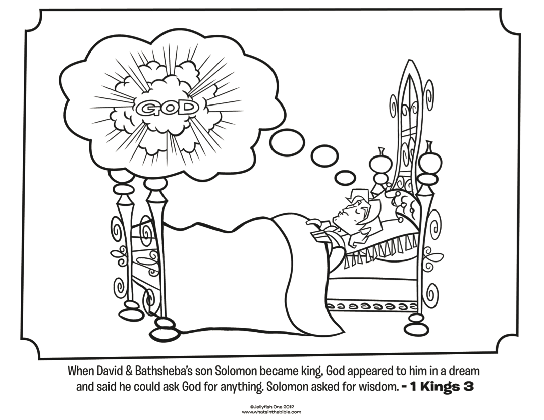 King Solomon - Bible Coloring Pages | What\'s in the Bible ...
