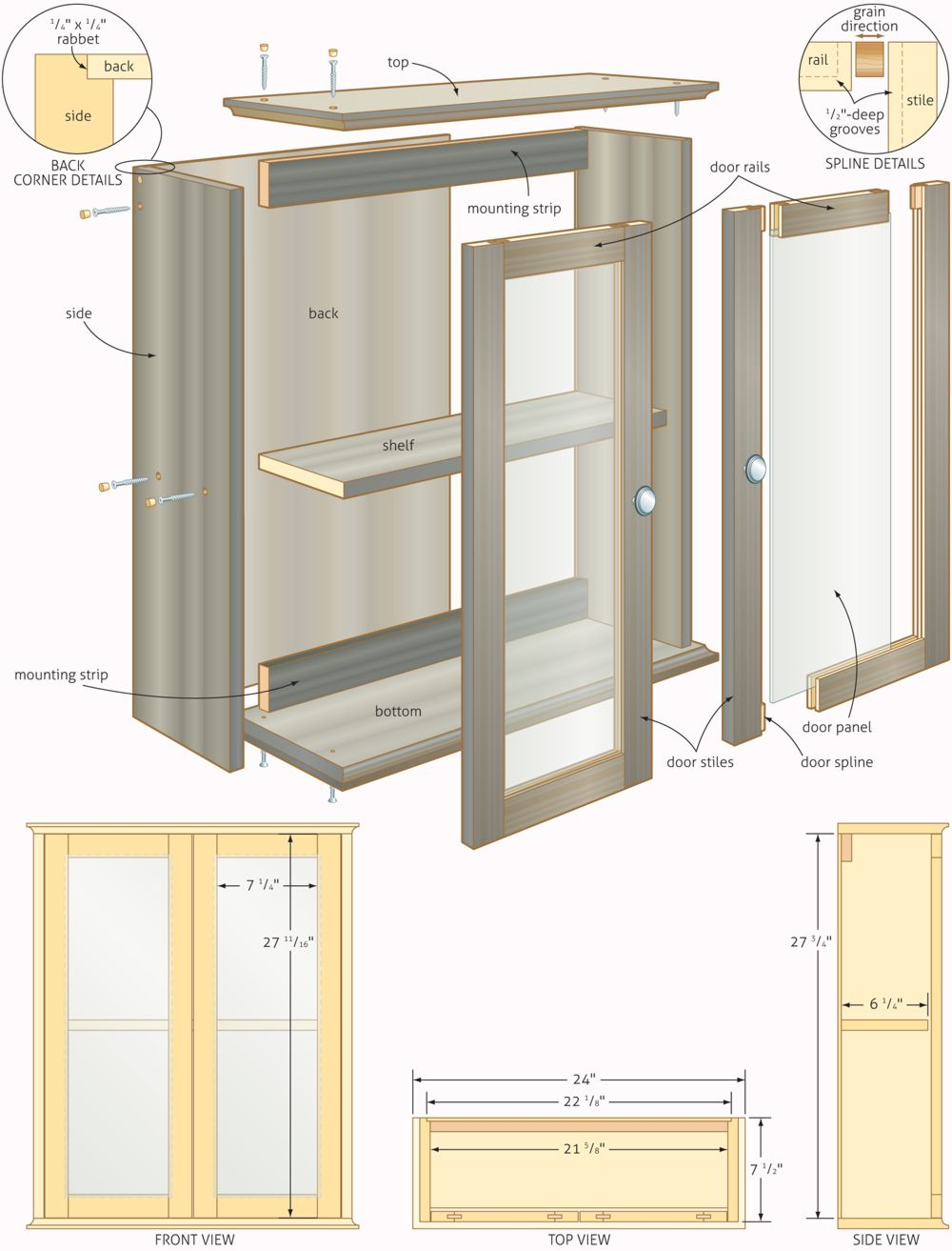 Free woodworking plans bathroom cabinets quick for Free blueprints online