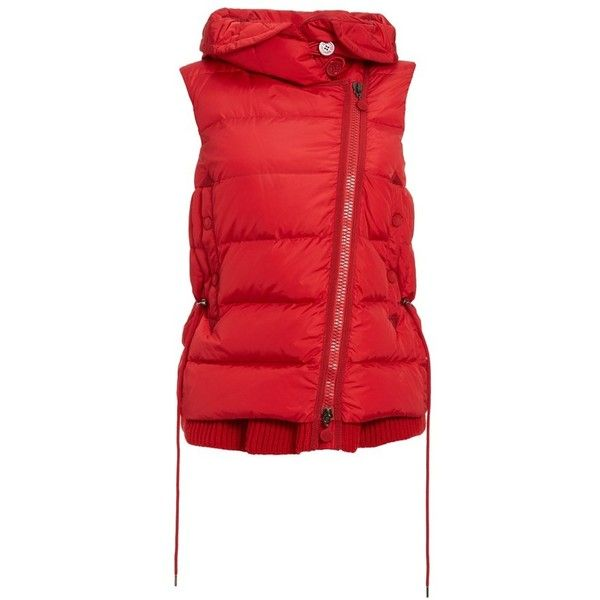 8d5254195 Womens Moncler Laurie Hooded A-Line Down Vest ($1,515) ❤ liked on ...