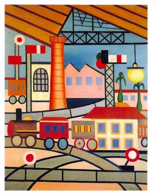 A Gare 1925 Tarsila Do Amaral Tarsila Do Amaral Pintora