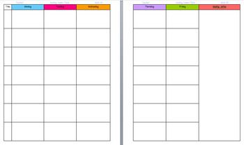 A TwoPage Lesson Plan Template Perfect For A Ring Teacher