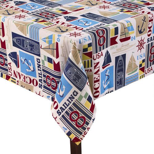 One Of My Favorite Discoveries At ChristmasTreeShops.com: Graphic Nautical  Tablecloth