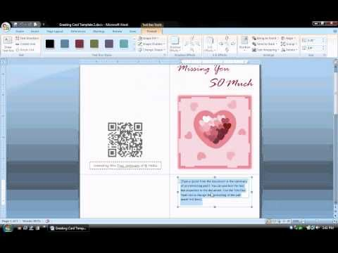 Ms Word Tutorial Part 1 Greeting Card Template Inserting And Formatting Text R Birthday Card Template Free Greeting Card Templates Greeting Card Template