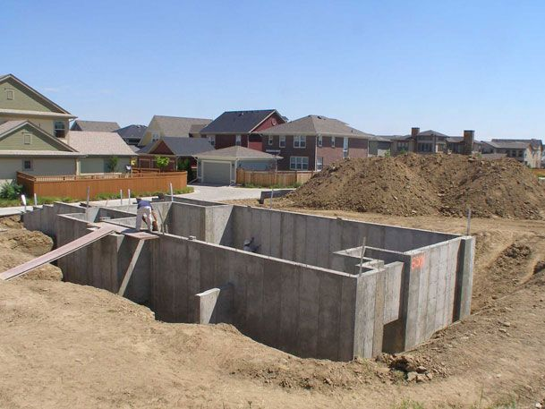 new home foundations pictures pin pinterest construction