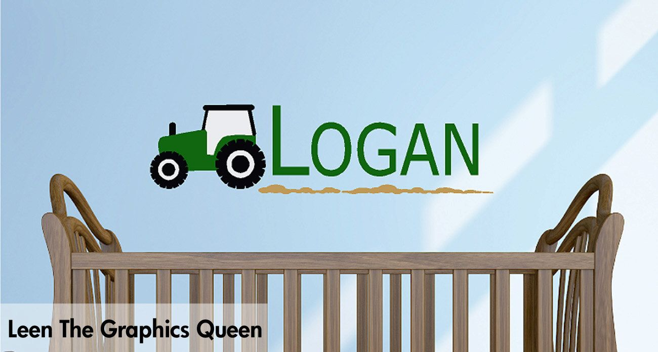 Captivating Tractor Wall Decal With Childs Name Wall Decal. $25.00, Via Etsy.