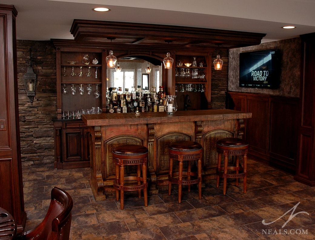 Nice Rustic Saloon Bar | Bar Designs On Pinterest Wet Bar. Rustic Basement Bar  Charm Rustic