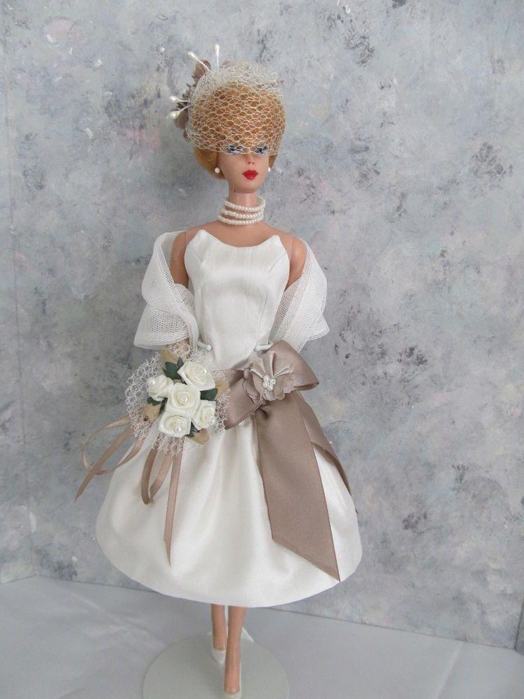 """Vintage Barbie/Silkstone """"Friday's Bride!"""" OOAK Handmade by Ann"""