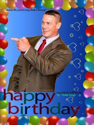 WweConTroL John Cena Happy Birthday WWE John Cena Wrestling