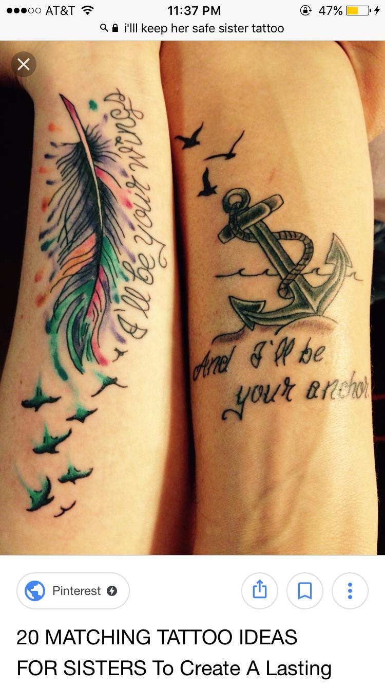 Sister Anchor Tattoos : sister, anchor, tattoos, Stephanie, Corwin, Tattoos!!!, Matching, Sister, Tattoos,, Brother, Tattoos