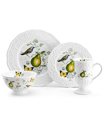 CLOSEOUT! Mikasa Dinnerware Antique Countryside Pear Collection - Dinnerware - Dining u0026 Entertaining -  sc 1 st  Pinterest & CLOSEOUT! Mikasa Dinnerware Antique Countryside Pear Collection ...