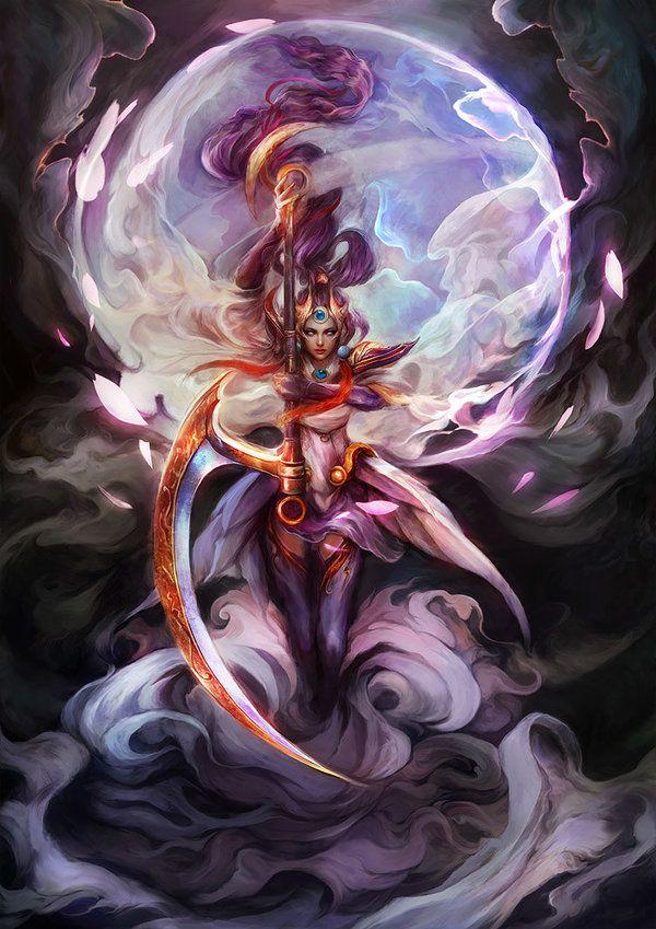 Lunar Goddess Diana By Muju League Of Legends Lol League