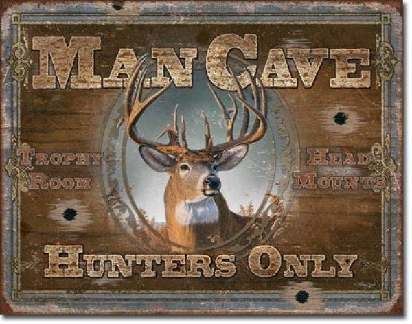 Hunters Man Cave Signs : Hunters only man cave deer turkey bear duck hunting cabin lodge