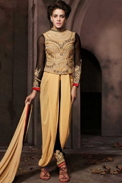 Peach Yellow Faux Georgette Embroidered Party Churidar Kameez Sku Code:223-5322SL435093 $ 88.00 http://www.sareez.com/product_info.php?products_id=166374