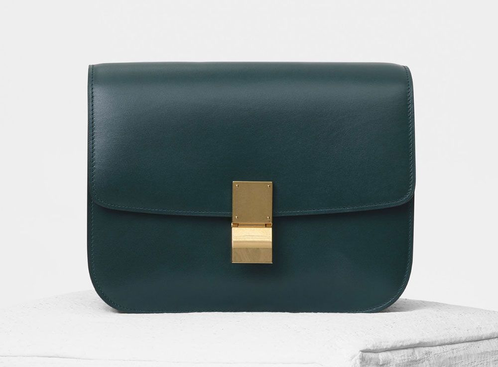 803cc130f0225 Box Bag in Amazon Green // Celine | Fall 2018 in 2019 | Celine ...