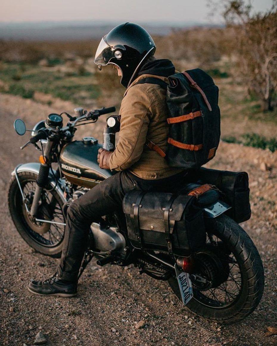 Vintage Honda Motorcycle Road Trip Gear Equipment Motorcycle Camping Motorcycle Camping Gear Vintage Honda Motorcycles