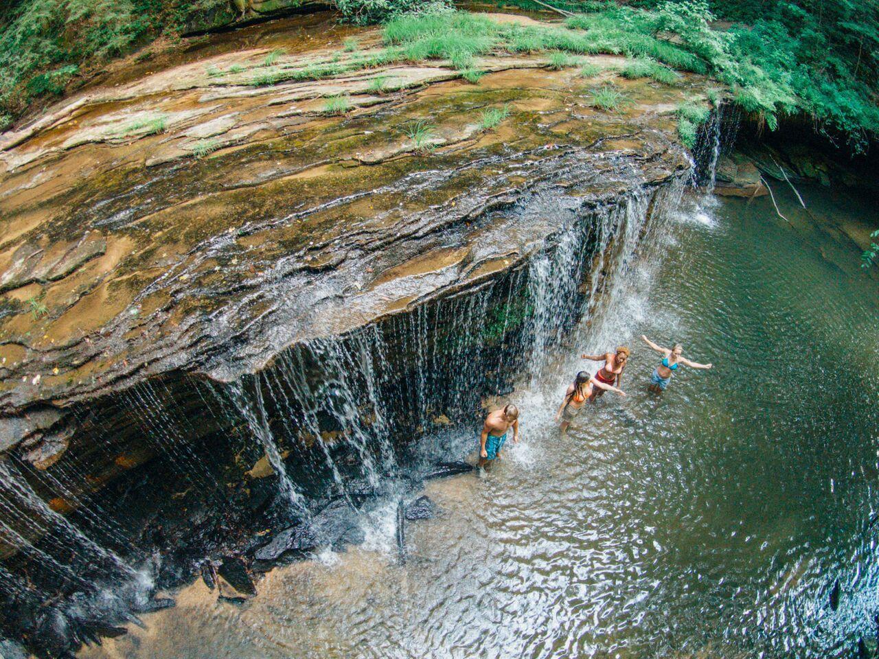 Refreshing Princess Falls On A Hot Kentucky Summer Day