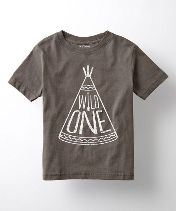 Look at this Charcoal 'Wild One' Tee - Toddler & Kids on #zulily today!