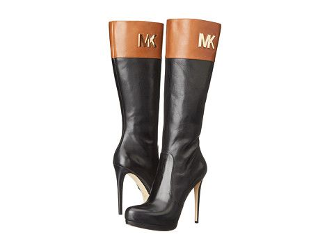 c0109f807a1e MICHAEL Michael Kors Hayley Boot Black Vachetta/Luggage Vachetta -  Zappos.com Free Shipping BOTH Ways