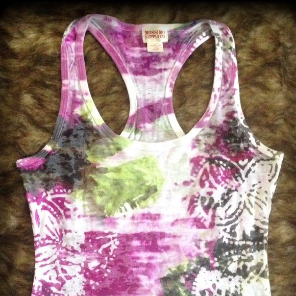Cute multicolored tank Lightweight cotton. Nice comfortable top Mossimo Supply Co Tops Tank Tops