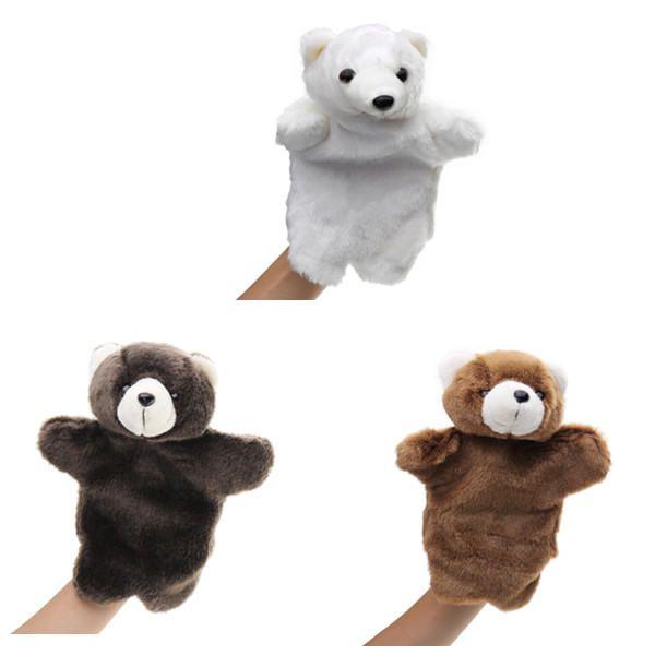 27CM Stuffed Animal Bear Fairy Tale Hand Puppet Classic