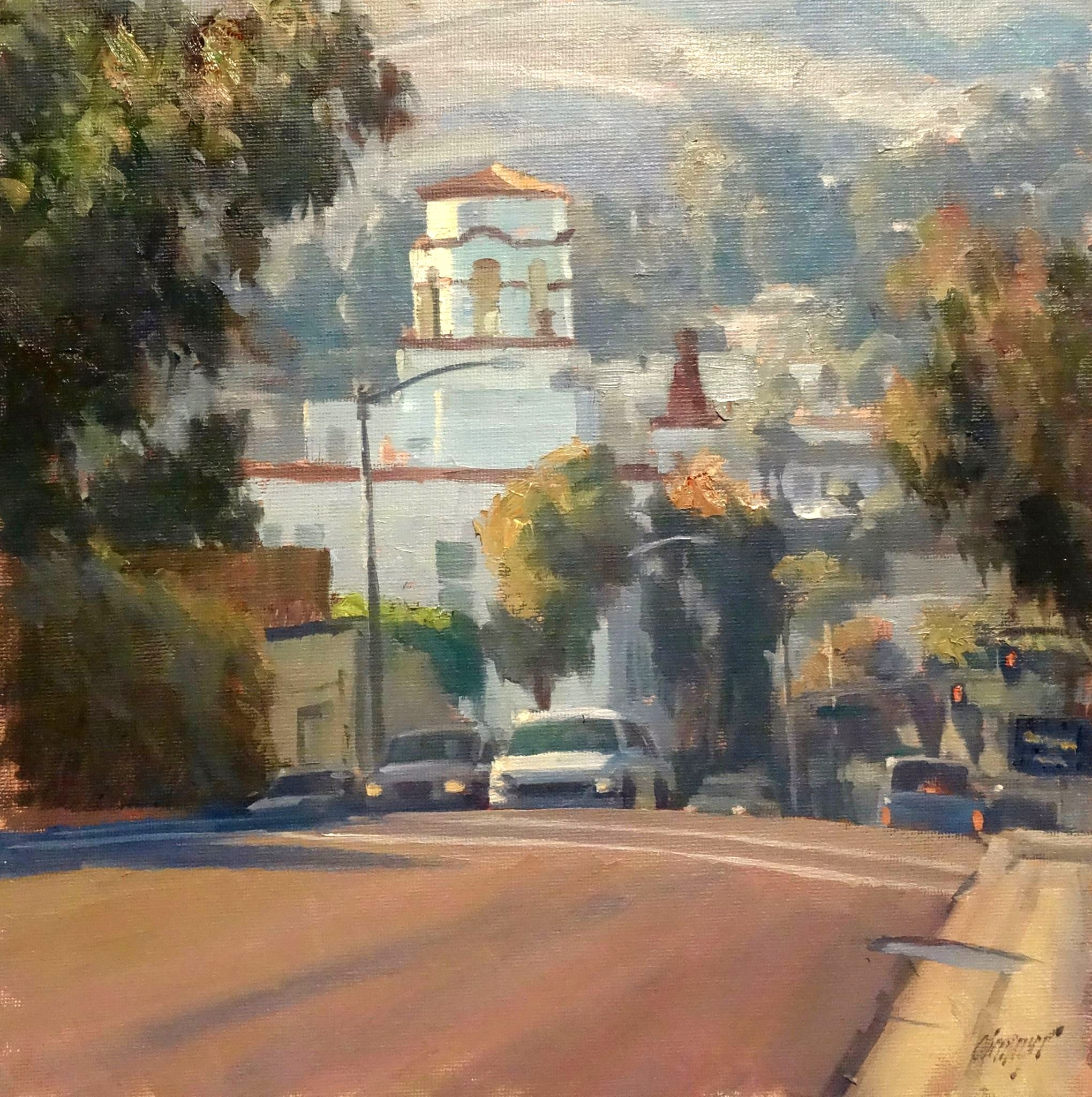 Laguna Canyon by Michael Harrison. Oil painting on