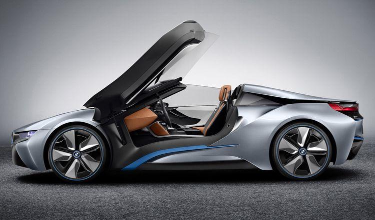BMW i8 Concept Spyder gull-wing doors | Fast cars | Pinterest | Bmw ...