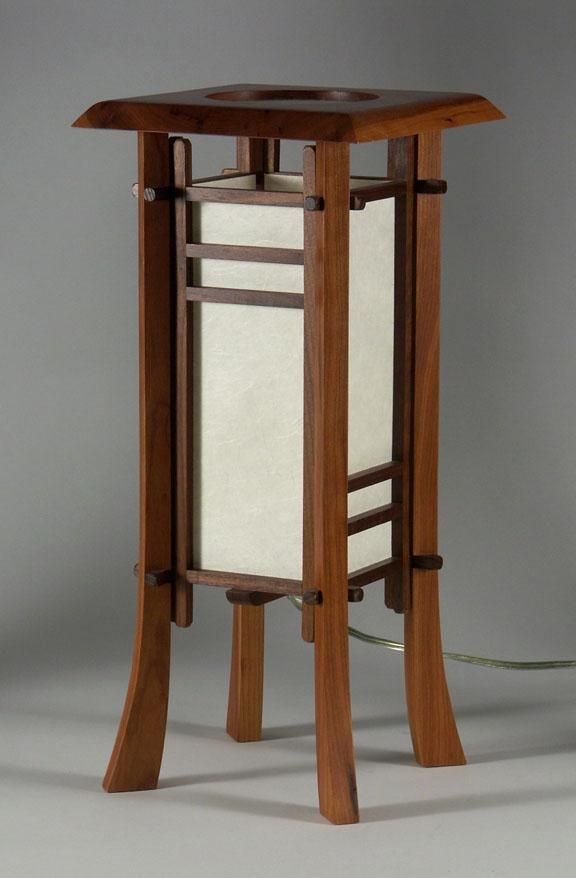 CHERRY STREET JAPANESE STYLE TABLE LAMP | Woodworking | Pinterest ...
