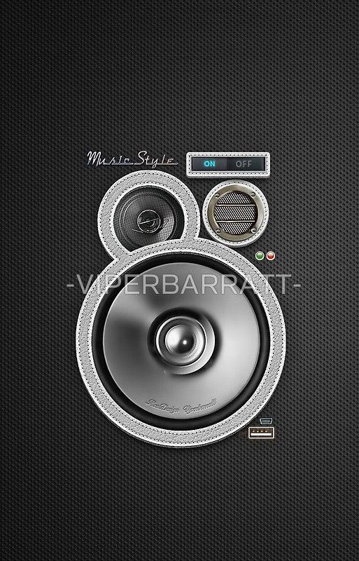Designer Style Speaker Phone Cover