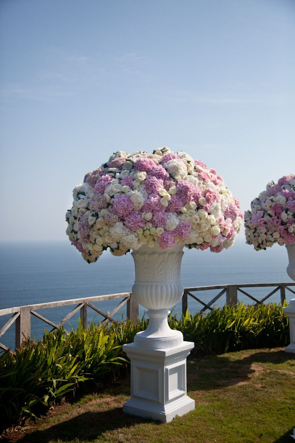 Flower arrangement from a wedding in Bali. Beautiful!