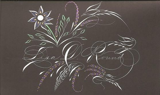 From Michael Sull, who is considered America's foremost living Spencerian penman