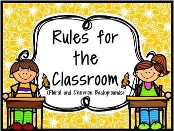 Rules for the Classroom Chart.I am using these this year and attaching them with ribbon, it is very cute! :) These are great to post in your classroom as friendly reminders for the students. I always like to make up the rules with my students (and still plan on doing that this coming year on an anchor chart) but these are good, solid, basic rules that all children should follow.